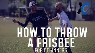How to Throw a Friṡbee for Beginners