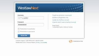 WestlawNext Sign On Demo