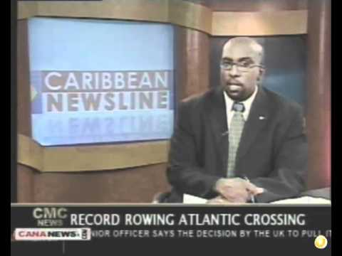 Atlantic Rowing  2011, Sara G, 2 World Records!!‬‏, Caribbean Newsline TV News