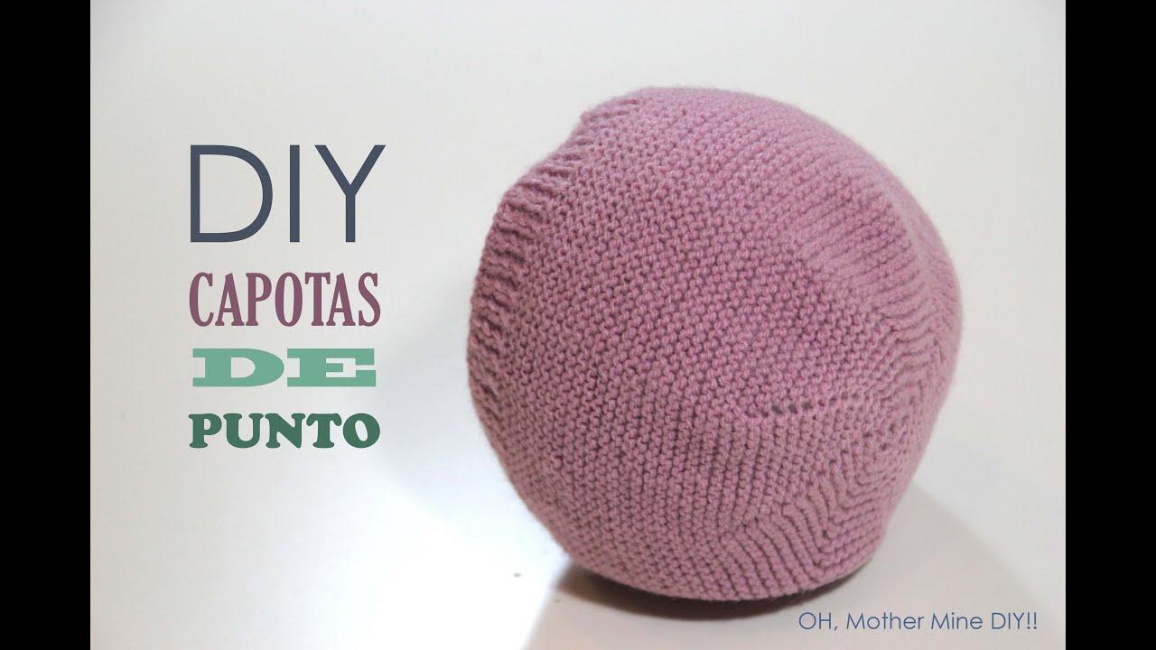 DIY Como hacer capotas de punto para bebés modelo 1 (patrón gratis ...