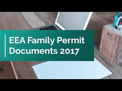EEA Family Permit Documents 2017