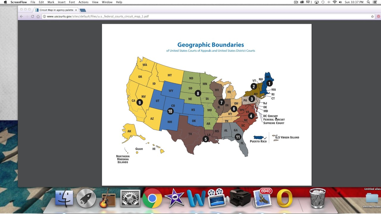 Federal Circuit Map YouTube