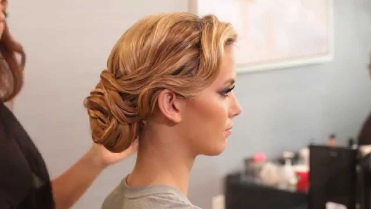 hollywood glam updo tutorial with femme rouge