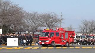 加須市消防出初式 車両分列行進