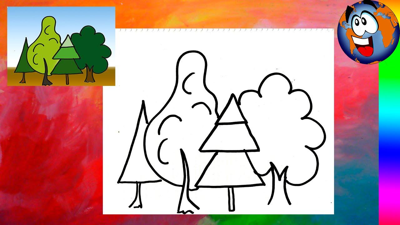 Bosque Encantado Tutorial Dibujo Fácil Para Niños