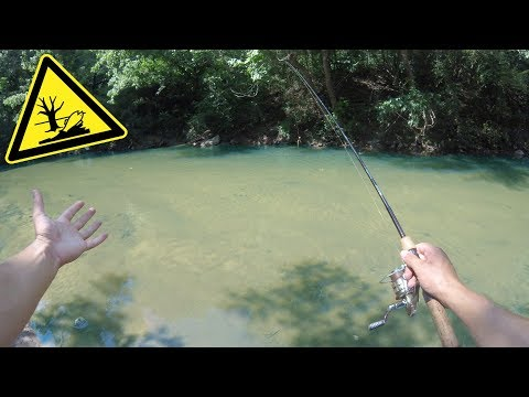 Fishing A Polluted ULTRA Clear Creek In Downtown Atlanta!