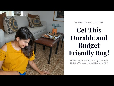 EVERYDAY INTERIOR DESIGN TIPS | Get This Durable AND Budget-Friendly Area Rug!