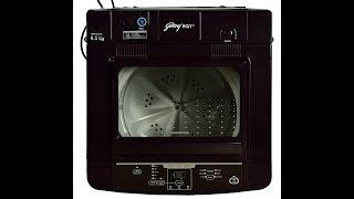 Unbox:Godrej GWF 650 FC Fully-automatic Top-loading Washing Machine (6.5 Kg, Carmine Red)