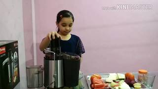 Mix Vegetable Juice Using Prestige Pcj7.0 500 W Juicer Demo by Sonam Khatri