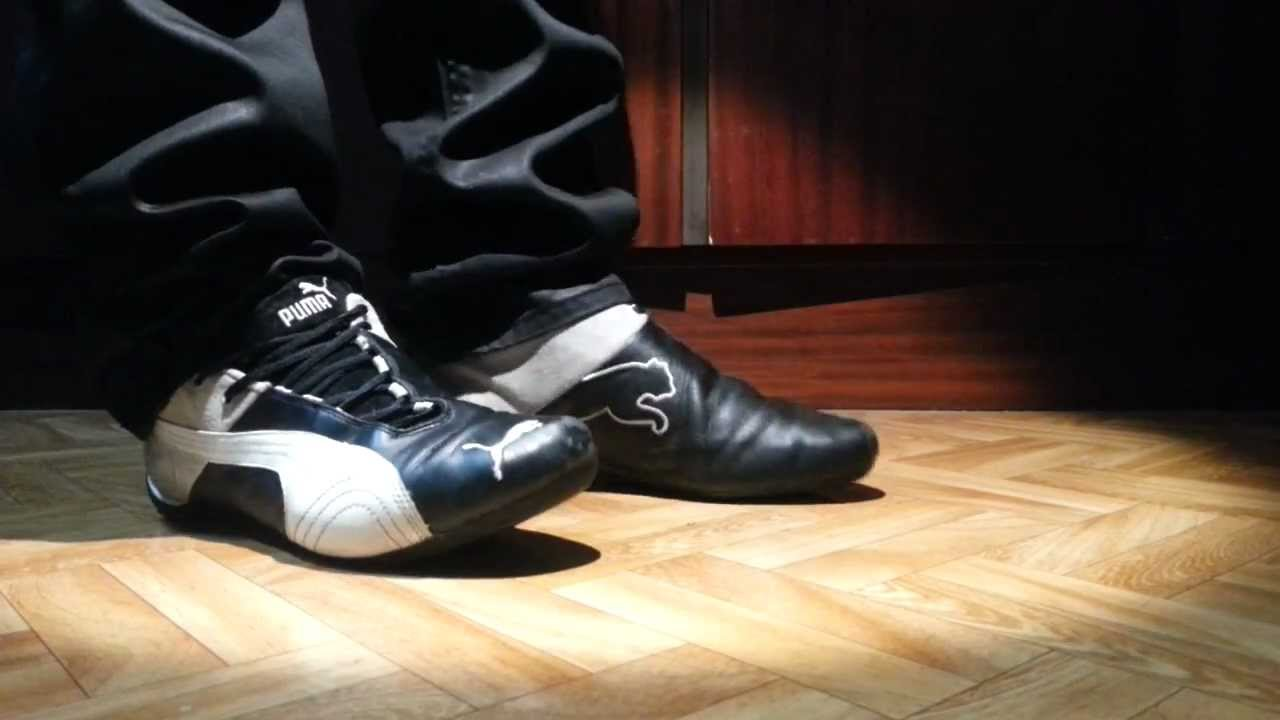 Puma Future Cat Black and leather jeans