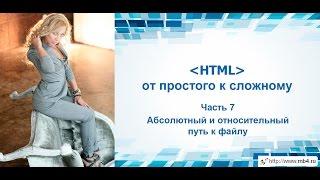Обучение HTML. Часть 7. Абсолютный и относительный путь к файлу