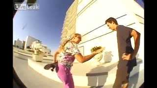 Skaters fight Insane lady | Skaters Win!