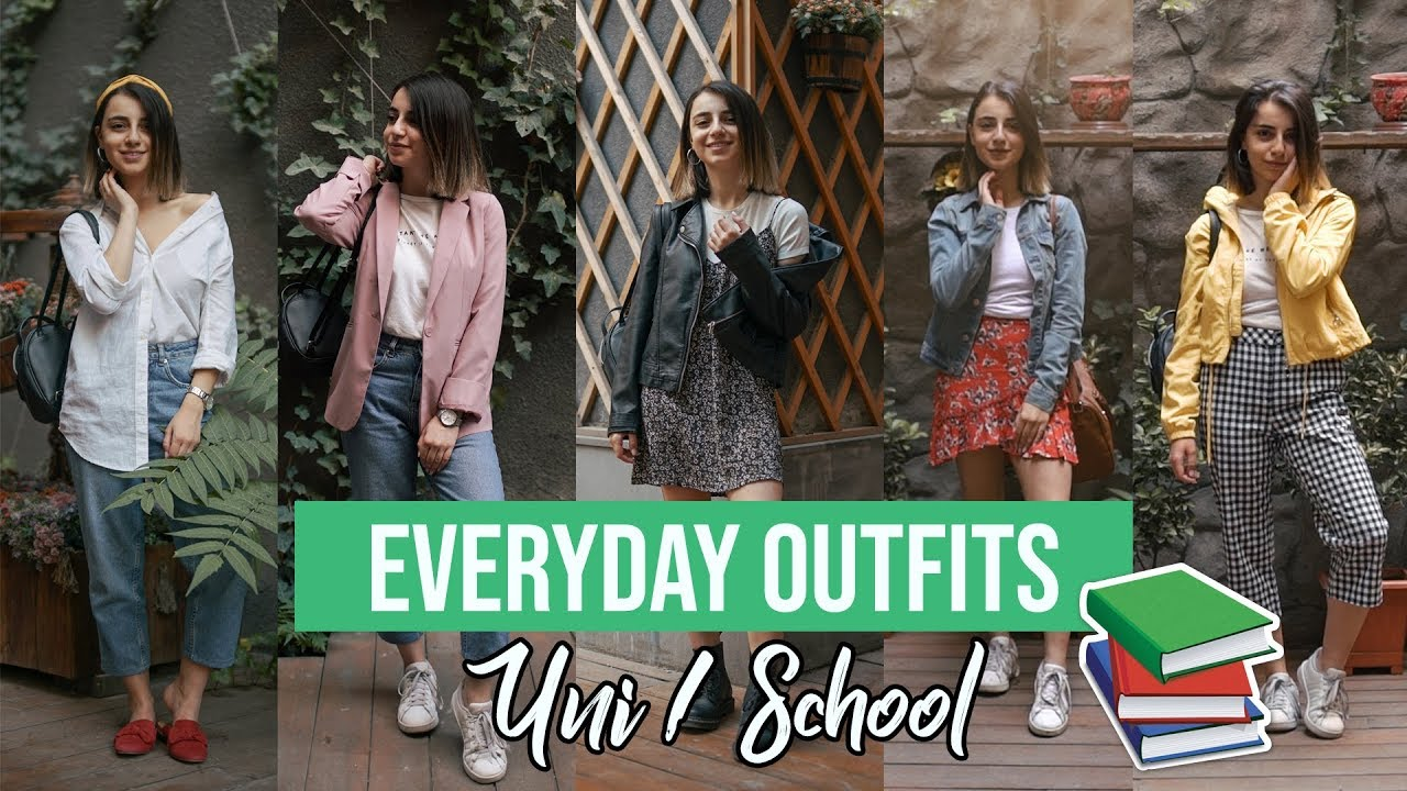 [VIDEO] - 5 ամենօրյա դպրոցի/համալսարանի լուք : Everyday uni/school outfits 6