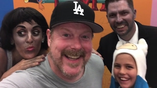 Frankly goes to Adventure Time LIVE!!! and dances with John DiMaggio