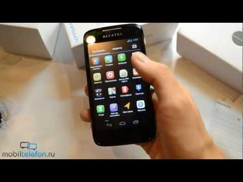 Распаковка Alcatel One Touch 997D (unboxing): включение, комплектация