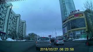 На Малышева Nissan врезался в ВАЗ, который поворачивал на Красноармейскую