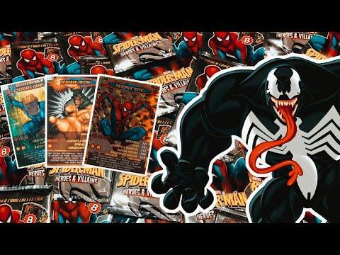 Обзор карточек Человек Паук. Герои и злодеи:)