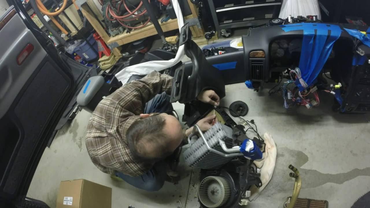 2002 Jeep Grand Cherokee Heater Core Replace - YouTube