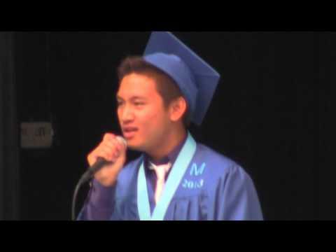 JMHS Graduation 2013 - National Anthem