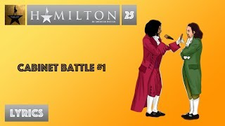 #25 Hamilton - Cabinet Battle #1 [[VIDEO LYRICS]]