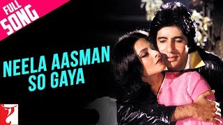 Neela Aasman So Gaya (Male) - Full Song | Silsila | Amitabh Bachchan | Rekha
