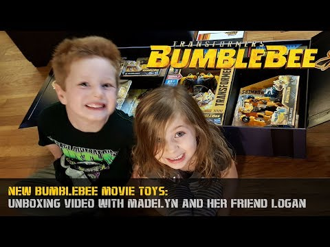 Bumblebee Movie Toys Unboxing with Special Guests Madelyn and Logan #JoinTheBuzz