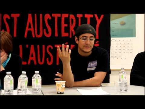 Fighting Austerity : A Solidarity Against Austerity (Ottawa) Discussion and Workshop