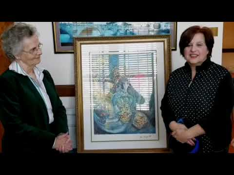 Chagall Print Presented to Marymount Convent