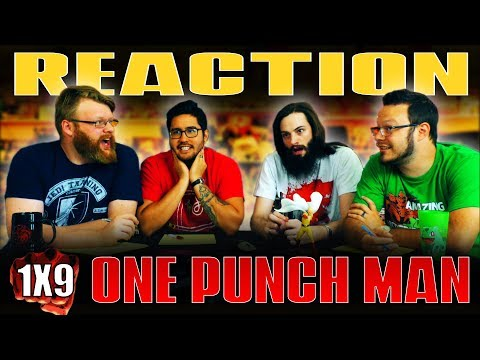 """One Punch Man 1x9 REACTION!! """"Unyielding Justice"""""""