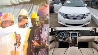 Ogogo Received New Toyota venza as a 60th birthday Gift From Senator Solomon Olamilekan Adeola-Yayi