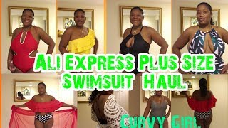 AliExpress Plus Size Swimwear Swimsuit Haul #curvygirl 2019 Summer