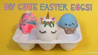 4 DIY easy Easter egg decoration ideas! Super cute!