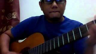 cover lagu sapu tangan babuncu ampat dengan gitar solo (belajar)