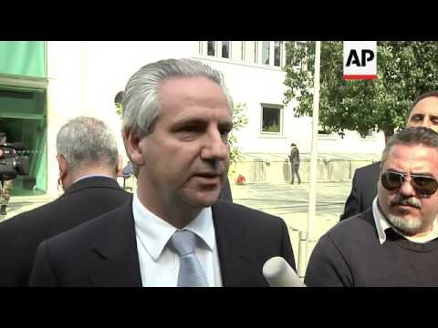 Director of Laiki Bank addresses media; banking union president; protests