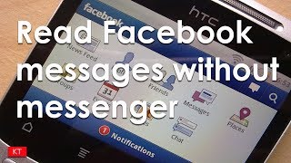 How to view Facebook messages without messenger 2017