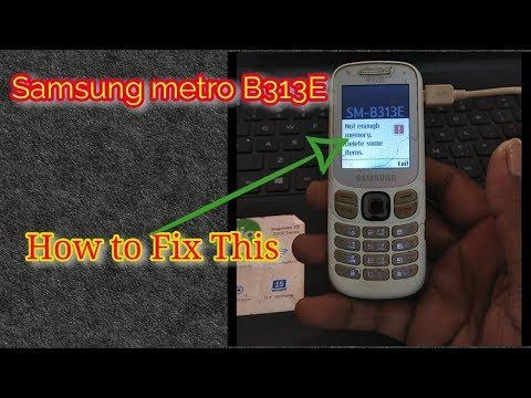 How to Flash/fix samsung b313e not enough memory problem || Verified Tricks