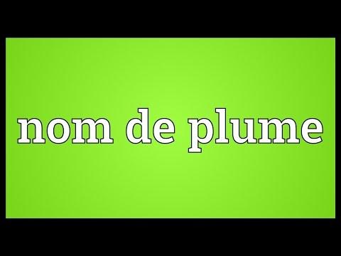 Nom de plume Meaning