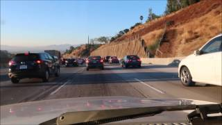 Driving the 405 &101 freeways in Los Angeles