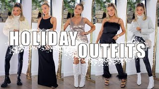 HOLIDAY OUTFIT IDEAS | CASUAL, DRESSY, CHIC