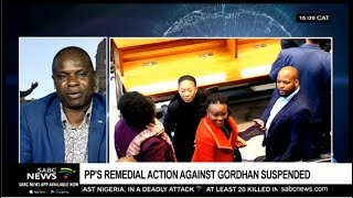 Reaction to court ruling on Gordhan's PP remedial action bid: Levy Ndou