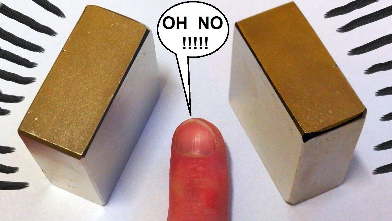 big neodymium magnets finger crushing danger youtube