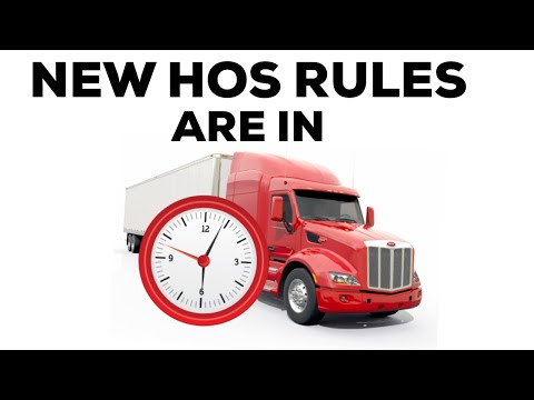 NEW - FMCSA Hours Of Service Changes Are Here 2019