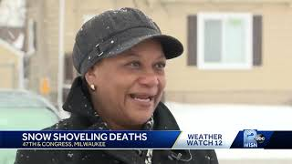 Sister of man who died after shoveling shares warning