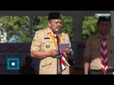 Upacara Peringatan Hari Pramuka Ke 58 Di Kota Langsa
