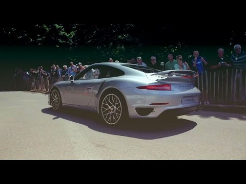 Porsche 911 Turbo S in action at Goodwood Festival of Speed