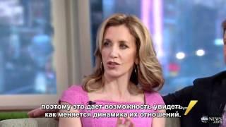 """Ф.Хаффман и Д.Савант на шоу """"Доброе утро, Америка"""" (RUS SUB)"""