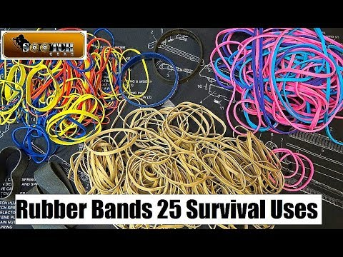 25 Rubber Band Survival Uses
