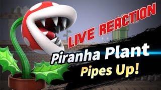 Piranha Plant Reveal In Smash Ultimate Live Reaction!!!