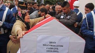 Şehit Uzman Çavuş Süleyman Aydın'ı, Amasya'da 5 bin kişi uğurladı
