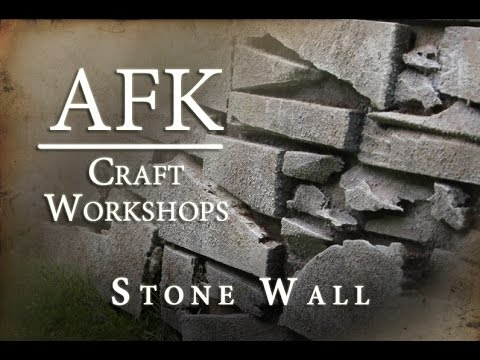 Afk Craft How To Build A Fake Stone Wall Tutorial You
